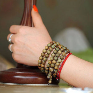 Sandalwood Mala Bracelet/Necklace. - Hilltop Apparel - 3