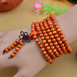 216 Beads Sandalwood Mala Bracelet/Necklace. 5 Colors. - Hilltop Apparel - 3