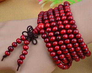 216 Beads Sandalwood Mala Bracelet/Necklace. 5 Colors. - Hilltop Apparel - 4