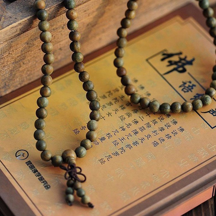Sandalwood Mala Bracelet/Necklace.