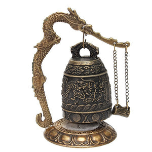 Small Tibetan Dragon Carved Buddha Bell - Hilltop Apparel - 1