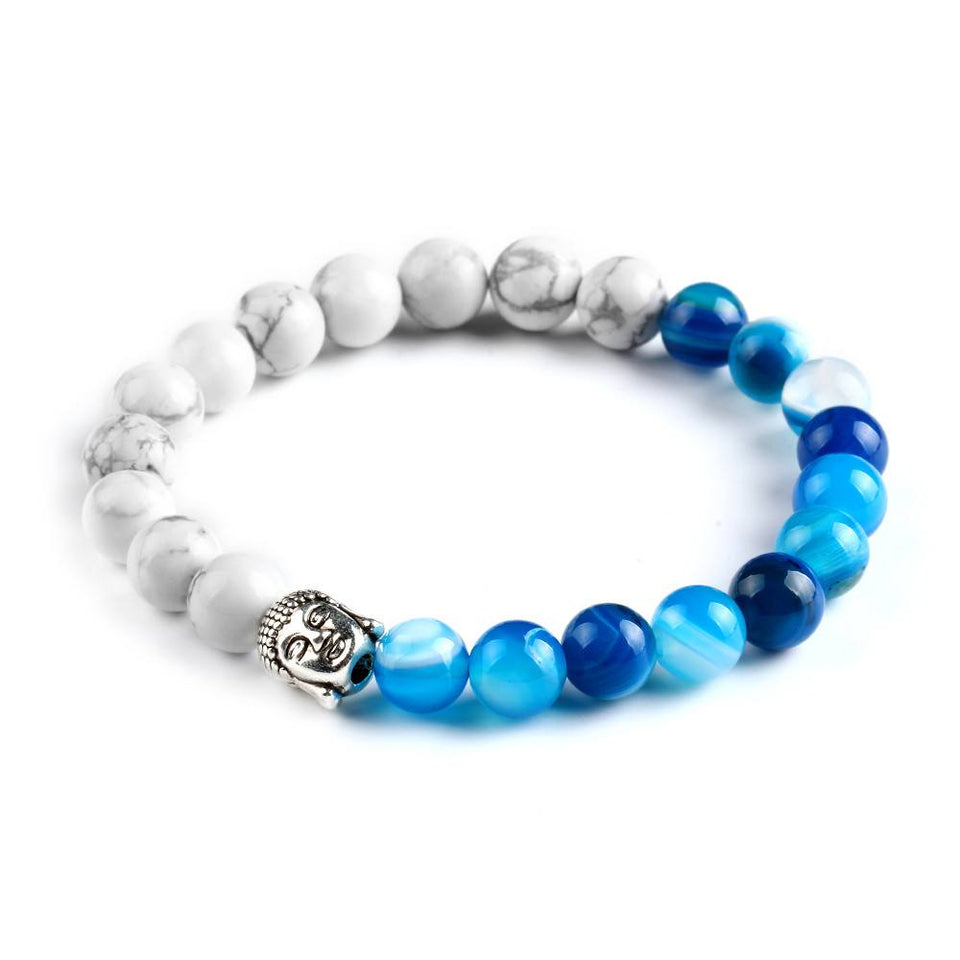 Natural Stone 2 Colors Buddha Bracelet. 5 Options. - Hilltop Apparel - 3