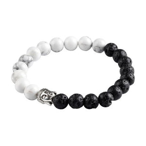 Natural Stone 2 Colors Buddha Bracelet. 5 Options. - Hilltop Apparel - 5