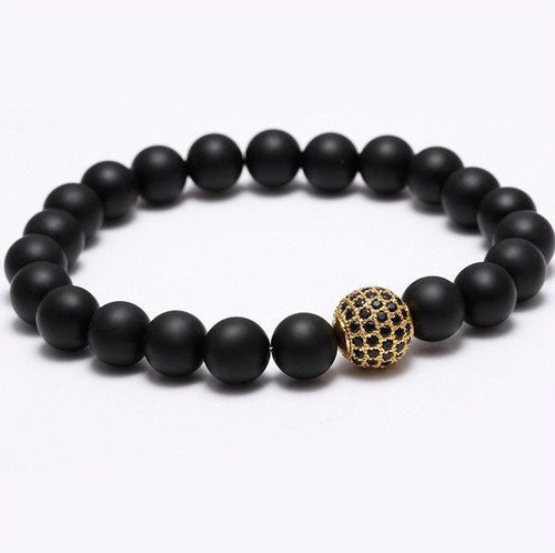 Nature Stone Beads Bracelets. 5 Options. - Hilltop Apparel - 1