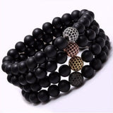Nature Stone Beads Bracelets. 5 Options. - Hilltop Apparel - 5