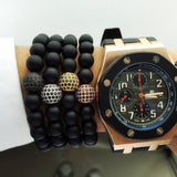 Nature Stone Beads Bracelets. 5 Options. - Hilltop Apparel - 6