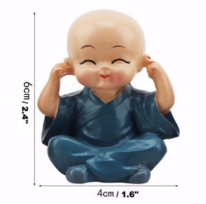 Statue - No Evil Child Monk Figurines