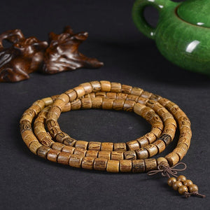 Tibetan Buddhist 108 SandalWood Mala Bracelet/Necklace - Hilltop Apparel - 4