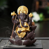 Golden Elephant Incense Burner