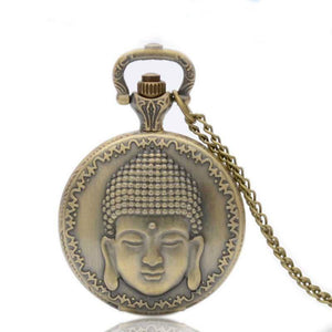 Vintage Bronze Buddha Pocket Watch Necklace - Hilltop Apparel - 6
