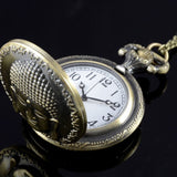 Vintage Bronze Buddha Pocket Watch Necklace - Hilltop Apparel - 3