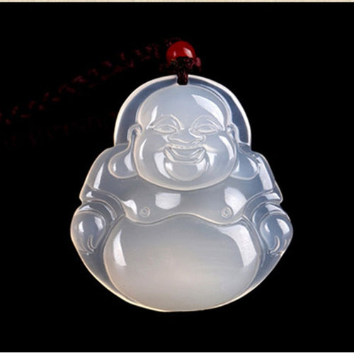 White Jade Buddha Pendant Necklace - Hilltop Apparel - 1