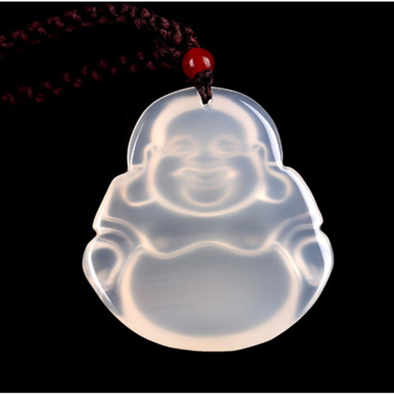 White Jade Buddha Pendant Necklace - Hilltop Apparel - 3