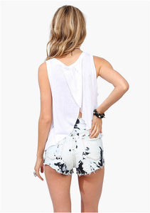 Women Hamsa Hand Open Back Tank Top. - Hilltop Apparel - 2