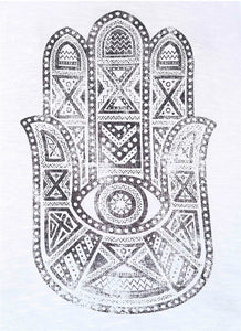Women Hamsa Hand Open Back Tank Top. - Hilltop Apparel - 5