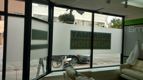 window coverings, office space decals