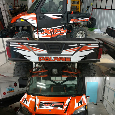 polaris, side by side graphics, utv, side by side decals