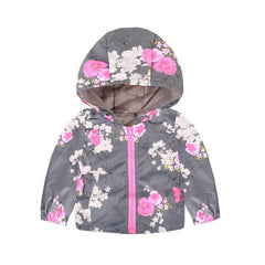 Cartoon Printed Hooded Jackets For Girls Coat Boys Outerwear Baby Jacket - Your Baby's Closet