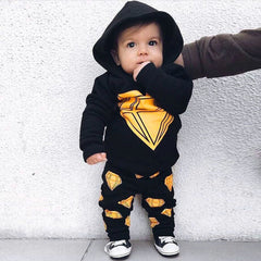 baby boy clothes newborn infant clothing long sleeve Hooded top+long pants kid clothes bebe vetements garcon baby fall clothes - Your Baby's Closet