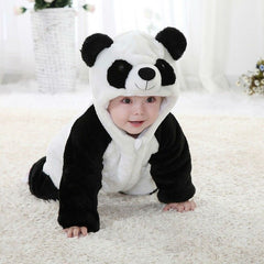 Baby Kid Toddler Newborn Boy Panda Animal Onesie Hooded Zipper Romper Jumpsuit Outfit Costume 0-3Y - Your Baby's Closet