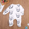 Cute Newborn Baby Boy Girl Cotton Clothes Babies Little Elephant Romper Jumpsuit Outfits Clothing - Your Baby's Closet