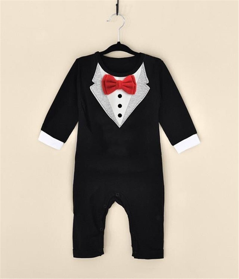 Toddler Baby Boy Rompers Spring Baby Clothing Sets Gentleman Roupas Infant Jumpsuits Baby Boy Clothes Newborn Baby Clothes - Your Baby's Closet