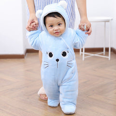 Winter Warm Baby Rompers Newborn Overalls Layette Coat Girl Jumpsuit Clothing Boy Rompers Thicken Parkas Costume Baby Clothes - Your Baby's Closet