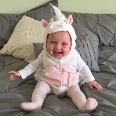 Unicorn Baby Boy Girls Cartoon Style Rompers Clothes Costume Kids Girls Romper Jumpsuit Outfits Fleece Clothes - Your Baby's Closet