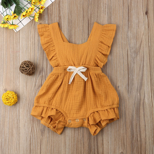 2019 Brand New Infant Newborn Baby Girls Ruffle Rompers One-Pieces Clothes Baby Girl Summer Sleeveless Romper Jumpsuit Sunsuit - Your Baby's Closet