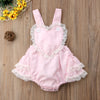 Cute Newborn Infant Baby Girl Heart Lace Romper Jumpsuit Outfit Sunsuit Clothes - Your Baby's Closet