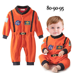 Baby Boys Clothes Orange Embroidery space suit Baby Costumes Newborn Baby Boy Romper Astronaut Clothes Long Sleeve Jumpsuit - Your Baby's Closet