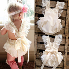 Kids Baby Girls Clothes Lace Ruffle Romper Jumpsuit Sunsuit Outfits A1 - Your Baby's Closet