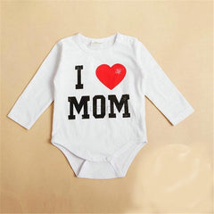 Summer Newborn Baby Boys Girls Romper Cute I Love MOM/DAD Print Romper Jumpsuit roupas de bebe clothes - Your Baby's Closet