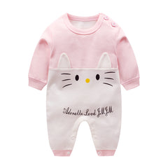 Newborn baby clothes 100% Cotton Long Sleeve Spring Autumn Baby Rompers Soft Infant Clothing - Your Baby's Closet