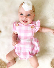 Plaid Summertime Romper Set - Your Baby's Closet