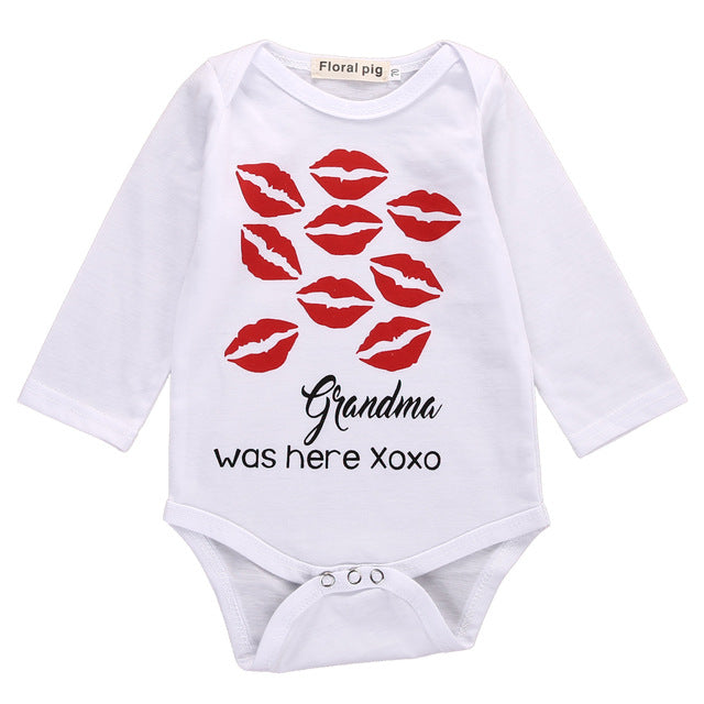 Grandma Was Here Kisses Romper - Your Baby's Closet