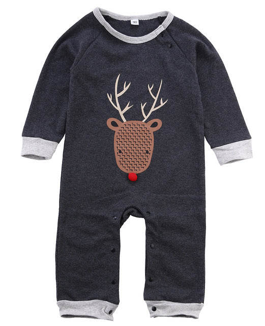 Christmas Deer Jumpsuit - Your Baby's Closet