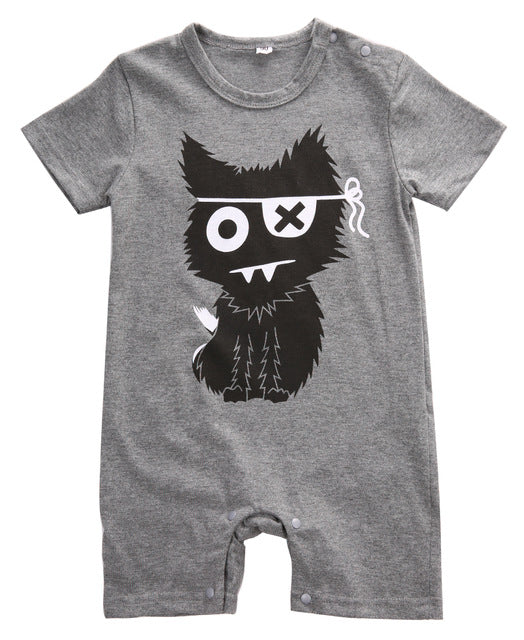 Cat Monster Jumpsuit - Your Baby's Closet