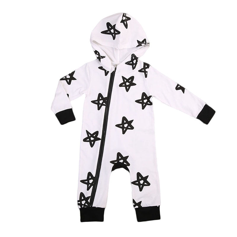 Star Autumn Hooded Jumpsuit - Your Baby's Closet