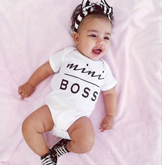 Mini Boss Romper - Your Baby's Closet