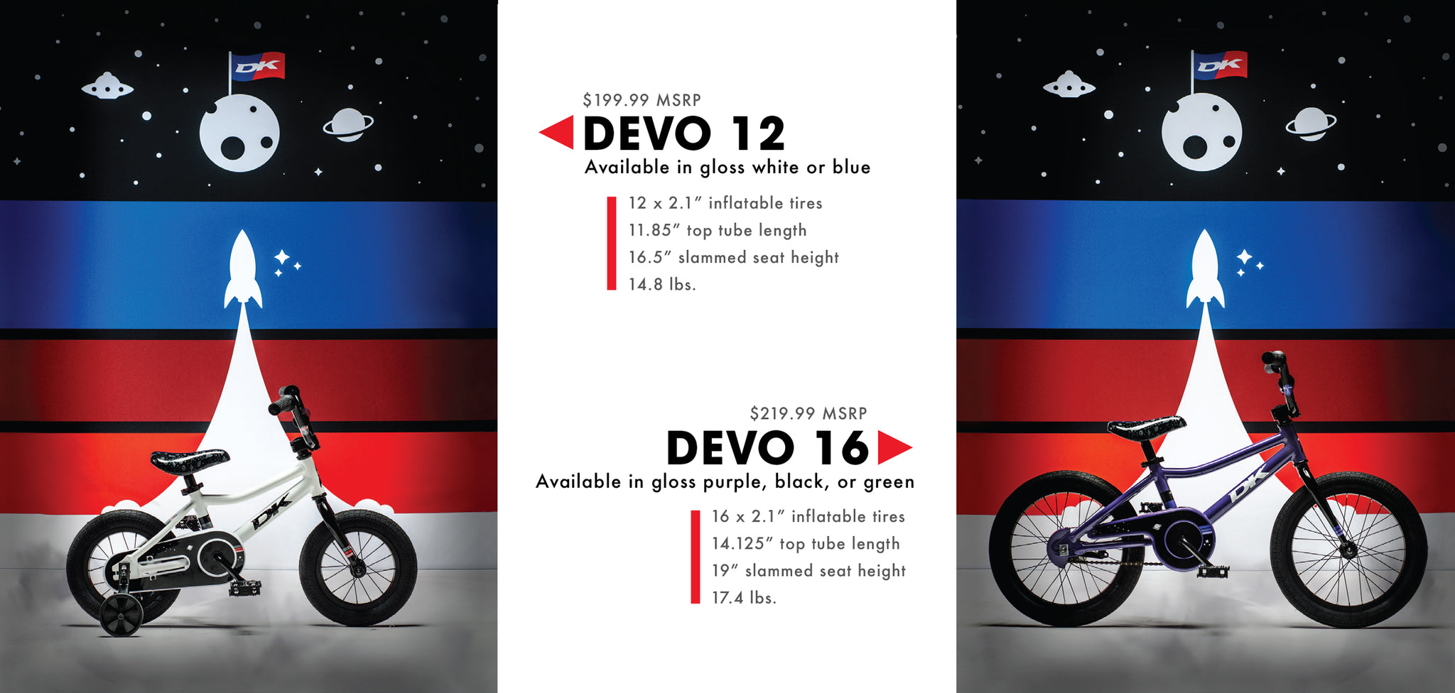 DK Bicycles Devo Kids Collection