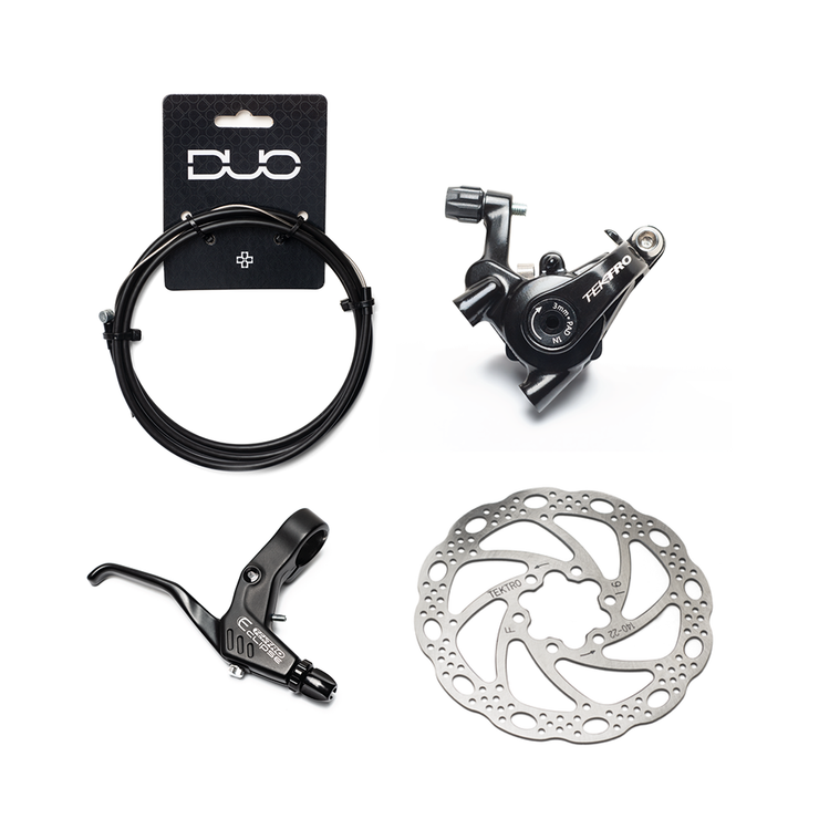 Flat Mount Mechanical Disc Brake Kit