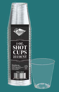 1oz Shot Cups - 25 Pack - Royalty Settings