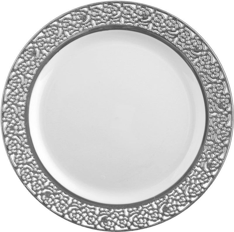 Inspiration Collection Silver Party Package with Lunch Plate - Royalty Settings