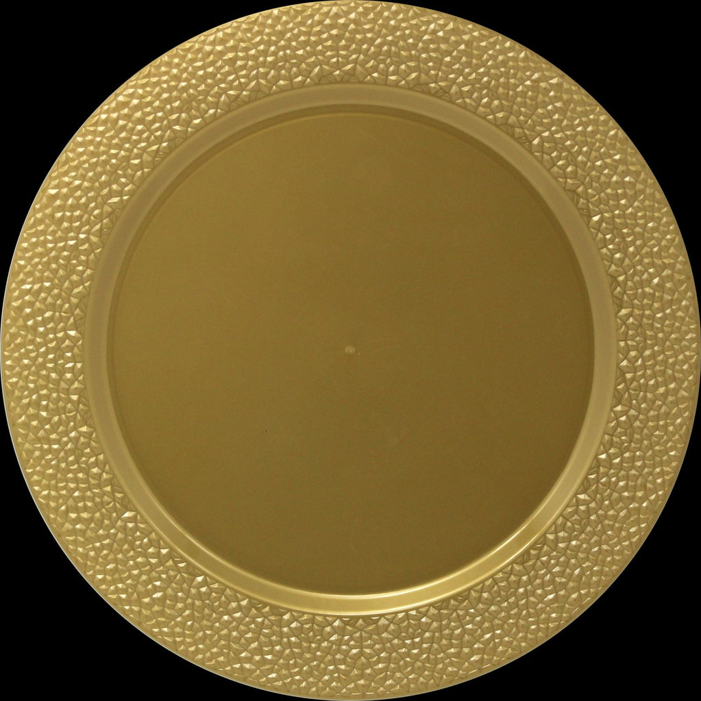 "Gold Hammered 13"" Charger - Pack of 2 - Royalty Settings"