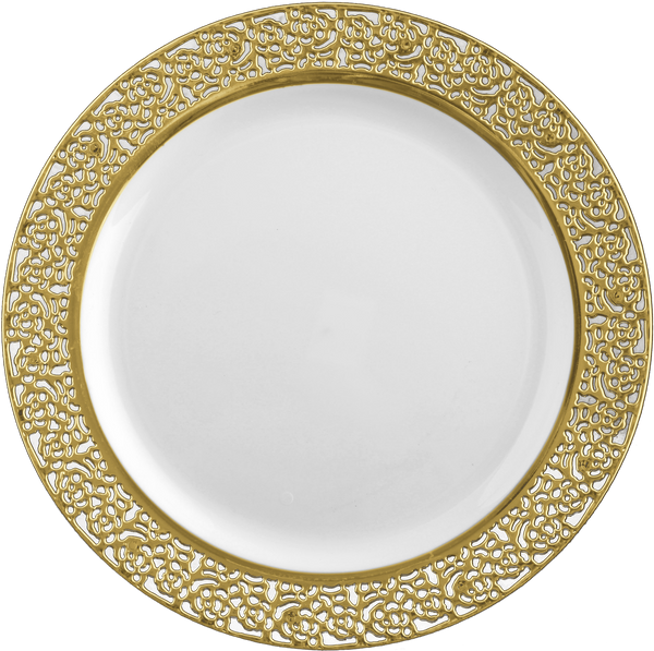 Inspiration Collection Gold Party Package with Lunch plate - Royalty Settings