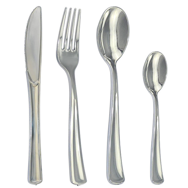 Polished Design Silver Cutlery - 20 pack - Royalty Settings