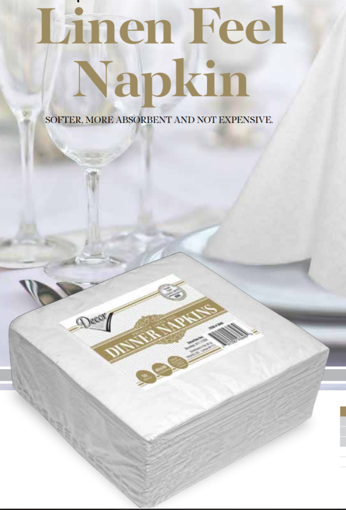 Linen Feel Napkins - Royalty Settings