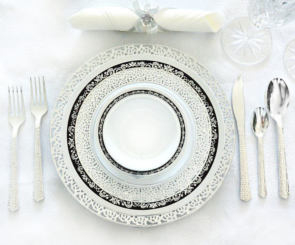 Mix and Match Inspiration Silver and Royal Collection Black/Silver Party Package - Royalty Settings