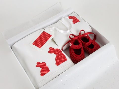 Baby Girl Bunny Set Red